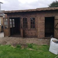 Combi summerhouse and shed 1