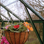 Hanging basket rails